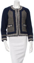 Tory Burch Crocheted Collarless Jacket