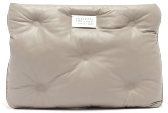 Maison Margiela Glam Slam Quilted-leather Clutch Bag - Grey
