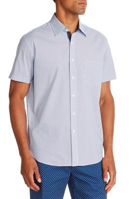 Construct Mini Check Print Slim Fit Shirt