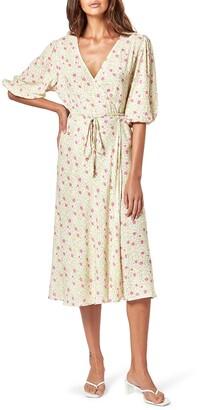 Charlie Holiday Presley Floral Midi Wrap Dress
