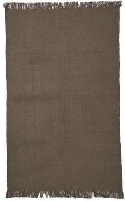 Denis Colomb Mongolia Wool Blanket - Womens - Grey Brown