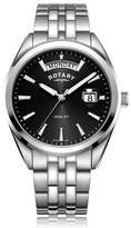 Rotary Watches Rotary Mens Stainless Steel Black Dial Henley