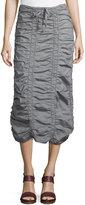 XCVI Ruched Drawstring Skirt, Gray