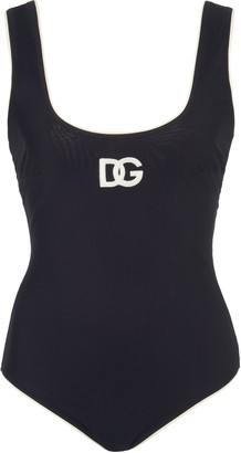 Dolce & Gabbana Logo-Embroidered Swimsuit