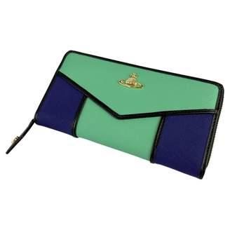 Vivienne Westwood Green Leather Wallets