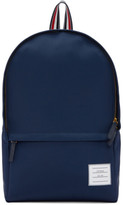 Thom Browne Navy Nylon Backpack