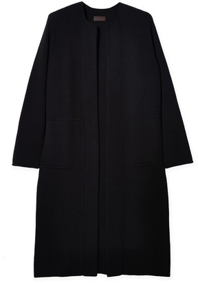 Oyuna Arya Cashmere Cotton Blend Coat In Black