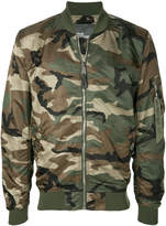 Alpha Industries camouflage print bomber jacket