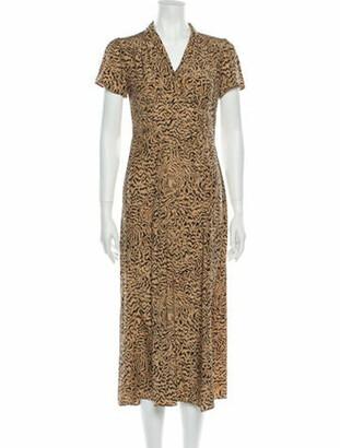 HVN Animal Print Long Dress