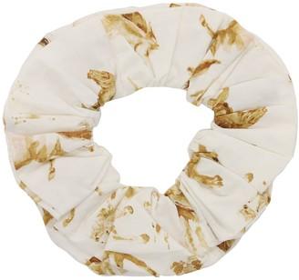 Ganni Printed Cotton Poplin Scrunchie