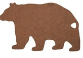 Epicurean Bear Shape Board - Nutmeg/Brown