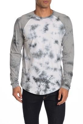Astronomy Anders Tie Dye Raglan Baseball T-Shirt