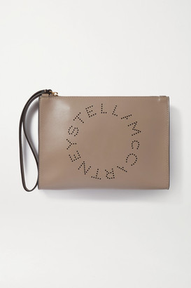 Stella McCartney Perforated Vegetarian Leather Pouch - Gray