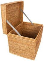 Trunks Artifacts Trading Company Artifacts Rattan Rectangular Hinged Chest, Honey Brown, Medium