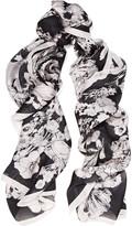 Roberto Cavalli Astro Garden printed silk scarf