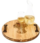 Cathy's Concepts 'Wheat Stalk' Rustic Wooden Tray