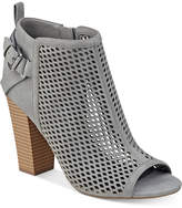 G by Guess Jerzy Peep-Toe Block-Heel Booties Women's Shoes