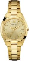 Bulova Women's Gold-Tone Stainless Steel Bracelet Watch 33mm 97L150