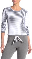 Stateside Stripe Print Long Sleeve Crop Top