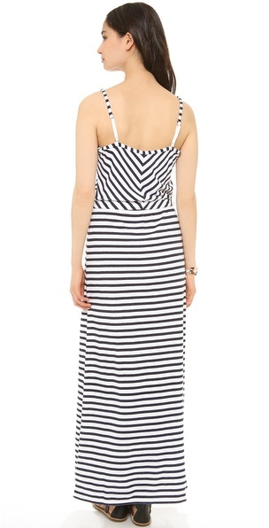 Juicy Couture Striped Terry Maxi Dress