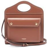Burberry Pocket Mini Leather Cross-body Bag - Womens - Tan