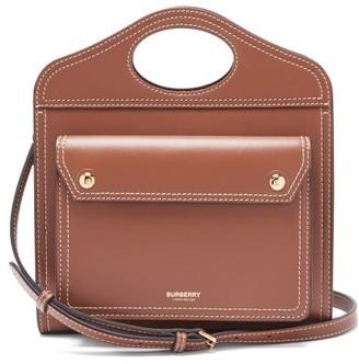 Burberry Pocket Mini Leather Cross-body Bag - Tan