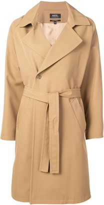 A.P.C. Belted Double-Breasted Coat