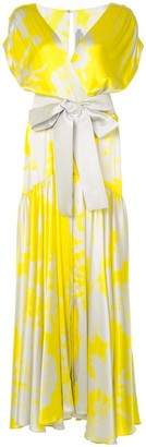 Silvia Tcherassi Abstract-Print Maxi Dress