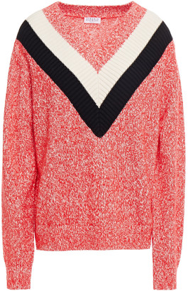 Claudie Pierlot Marled Cotton-blend Sweater