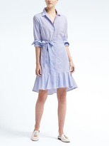 Banana Republic Flounce-Hem Shirtdress