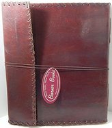 """BKLVR Handmade 10"""" X 12"""" Tri-fold Leather Journal Album with Lace Edging Sketchbook"""