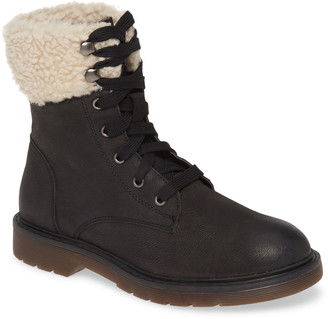 Band of Gypsies Dillon Fleece Cuff Lace Up Boot