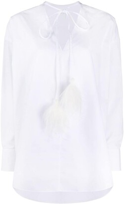 Valentino Ostrich Feather Embellished Shirt