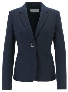 BOSS Slim-fit jacket in pinstriped Italian fabric