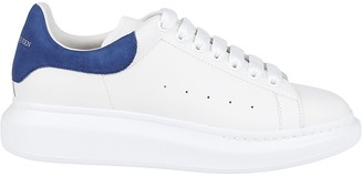 Alexander McQueen White And Blue Leather Oversized Sneakers