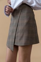 Genuine People Plaid Mini Skirt