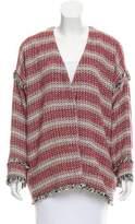 Hatch Tweed Fringe-Trimmed Jacket