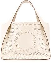 Stella McCartney Stella Logo perforated tote bag