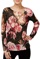 I.N.C International Concepts Petite Floral Printed Sweater