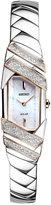 Seiko Women's Solar Tressia Diamond Accent Stainless Steel Bracelet Watch 15mm SUP332