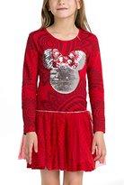 Desigual Girl's Printed Dress - Red -
