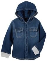 Osh Kosh Toddler Boy Hooded Denim Shirt
