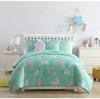 Vcny Home VCNY Home Tie Dye Unicorn Kids Comforter Set, Full, Pink/Aqua