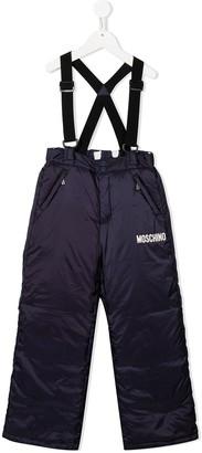 MOSCHINO BAMBINO TEEN padded suspender ski trousers