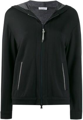 Brunello Cucinelli Hooded Jersey Track Jacket