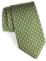 Salvatore Ferragamo Bear Print Silk Tie