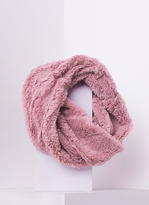 Missy Empire Inga Dusty Pink Fluffy Infinity Scarf