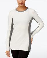 Calvin Klein Thermal Colorblocked Long-Sleeve Top