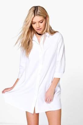 boohoo Sophia Shirt Dress