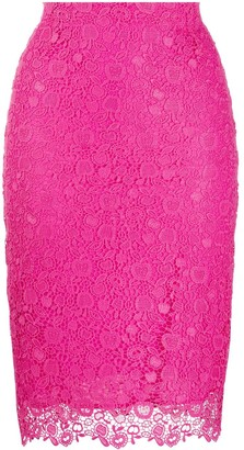 Pinko Lace Embroidered Pencil Skirt